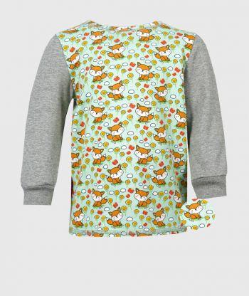 Long Sleeve T-shirt Little Foxes Mint