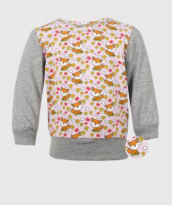 Long Sleeve T-shirt Little Foxes Pink