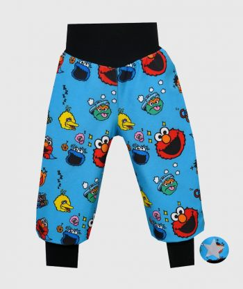 Waterproof Softshell Pants Funny Faces Blue