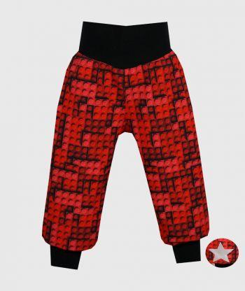 Waterproof Softshell Pants Lego Bricks Red
