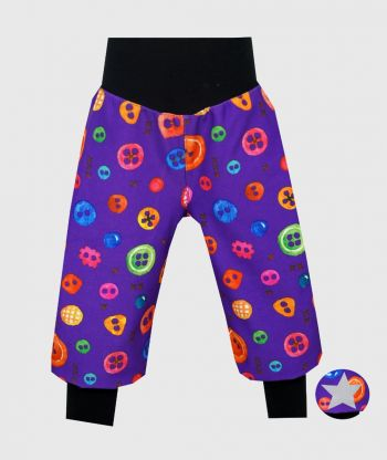 Waterproof Softshell Pants Colorful Buttons