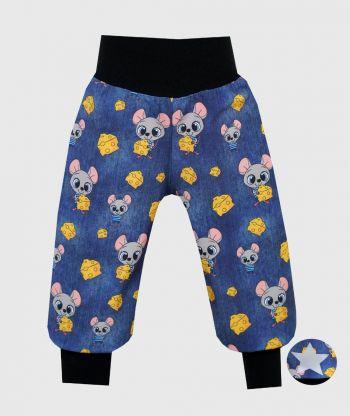 Waterproof Softshell Pants Mice Blue